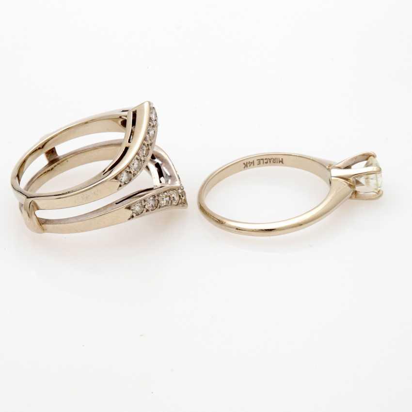 Ladies ring white gold 14 K, 2-piece - photo 3