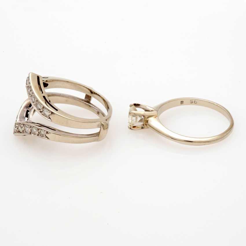 Ladies ring white gold 14 K, 2-piece - photo 4