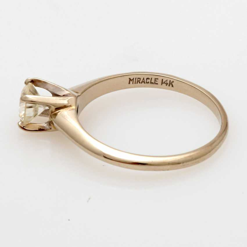 Ladies ring white gold 14 K, 2-piece - photo 5