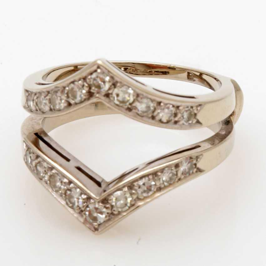 Ladies ring white gold 14 K, 2-piece - photo 2