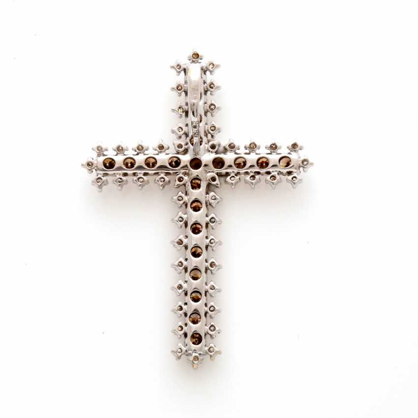 Cross Pendant White Gold 18 K - photo 1