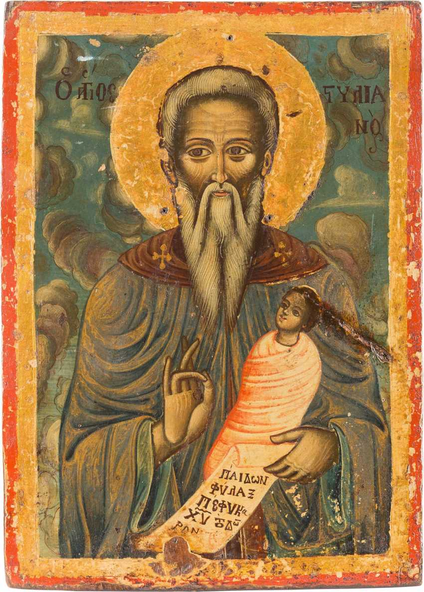 patron of children child keeper Hand painted gift icon of St Stylian Stylianos