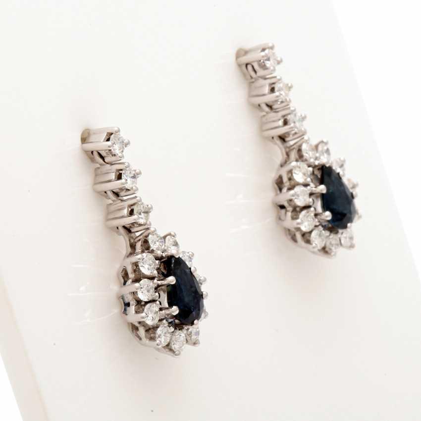 Earrings (Pair)White Gold 18 K - photo 2