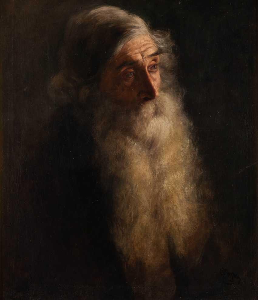 РУССКАЯ ШКОЛА в 1900 году художник Портрет бородатого мужчины - фото 1