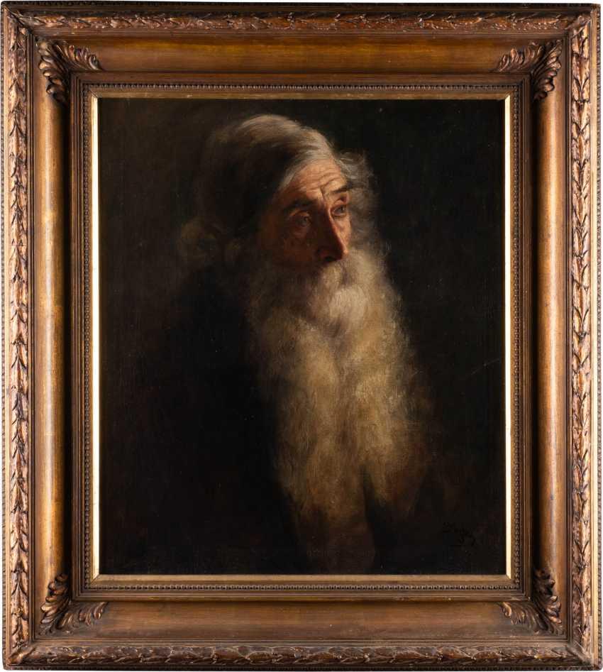 РУССКАЯ ШКОЛА в 1900 году художник Портрет бородатого мужчины - фото 2