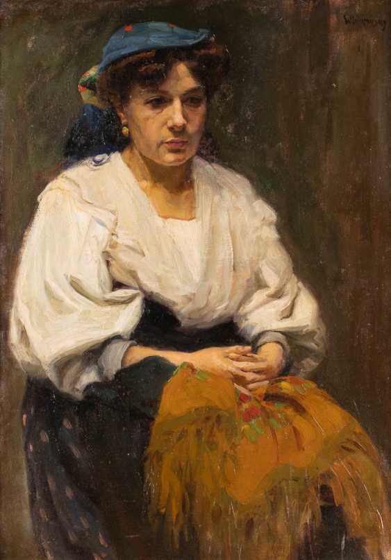 BORIS EREMEJEWITSCH WLADIMIRSKY 1878 Kiev - 1950 Moscow woman portrait - photo 1