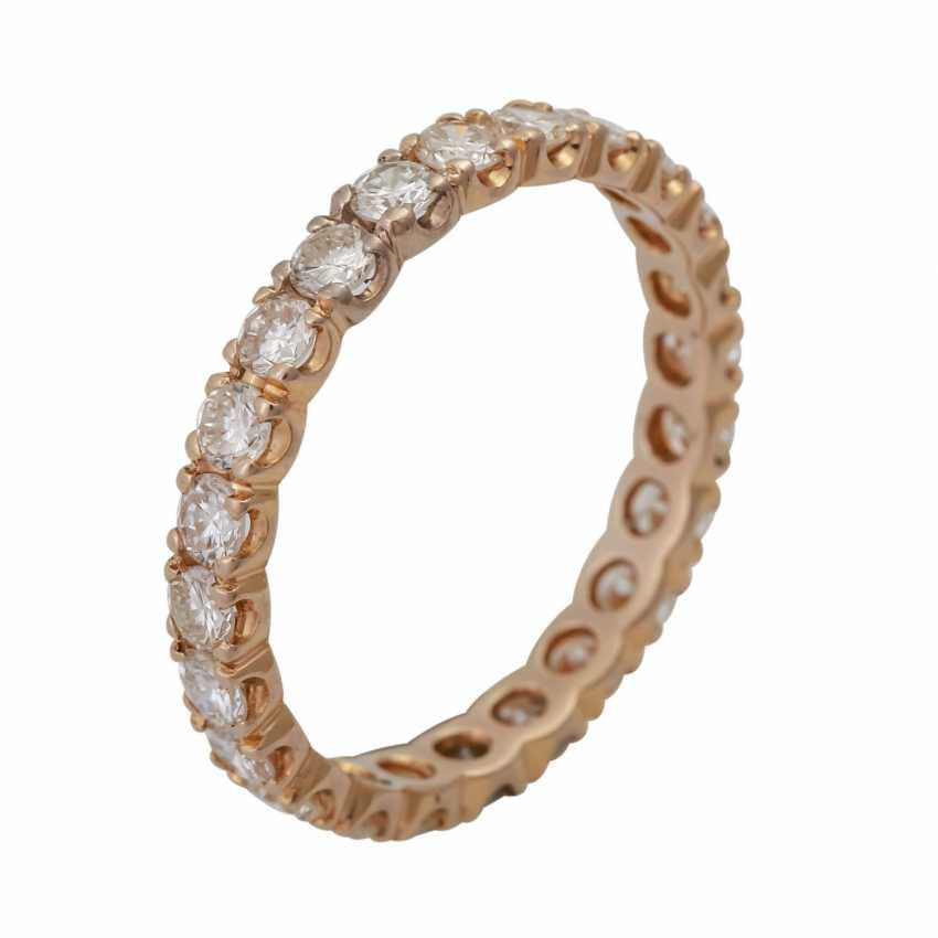 Memoire кольцо с 24 бриллиантами, вместе около 1,68 ct, LGW-GW (J-K)/SI, - фото 2