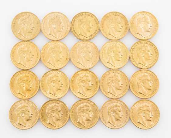 Preussen/GOLD, 20 x 20 Goldmark, Wilhelm II., - photo 1