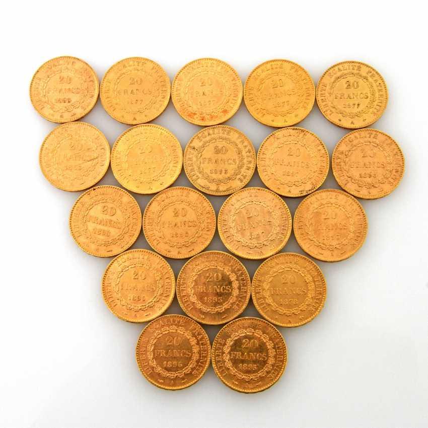 France/GOLD - 19 x 20 Francs, standing Genius, - photo 1