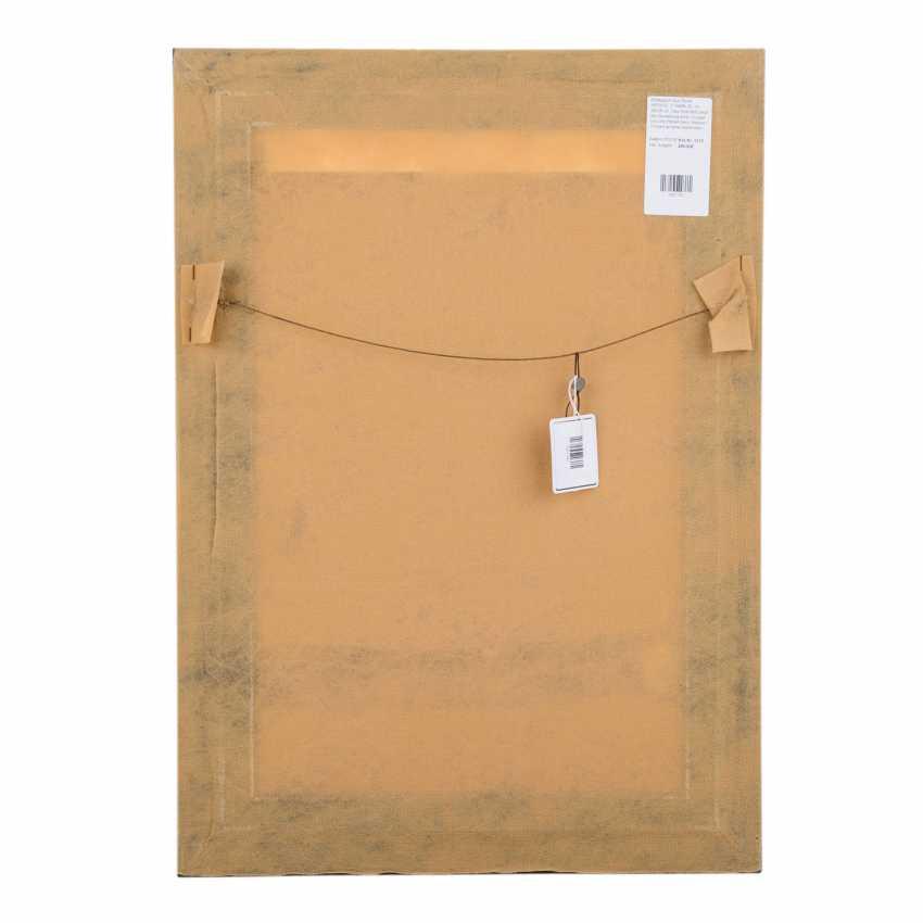 Image carpet made of silk. HEREKE, 2. Half of the 20. Century, 35x26 cm. - photo 3