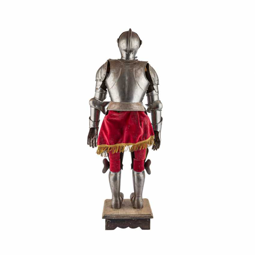 Small decorative knight's armor is probably the end of 19./At the beginning of 20. Century, - photo 3
