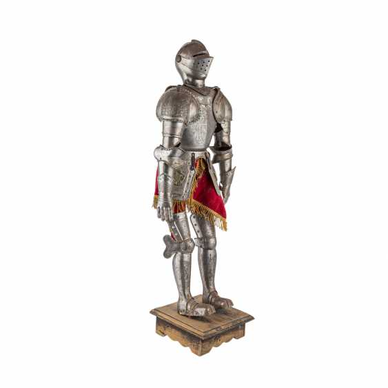Small decorative knight's armor is probably the end of 19./At the beginning of 20. Century, - photo 4