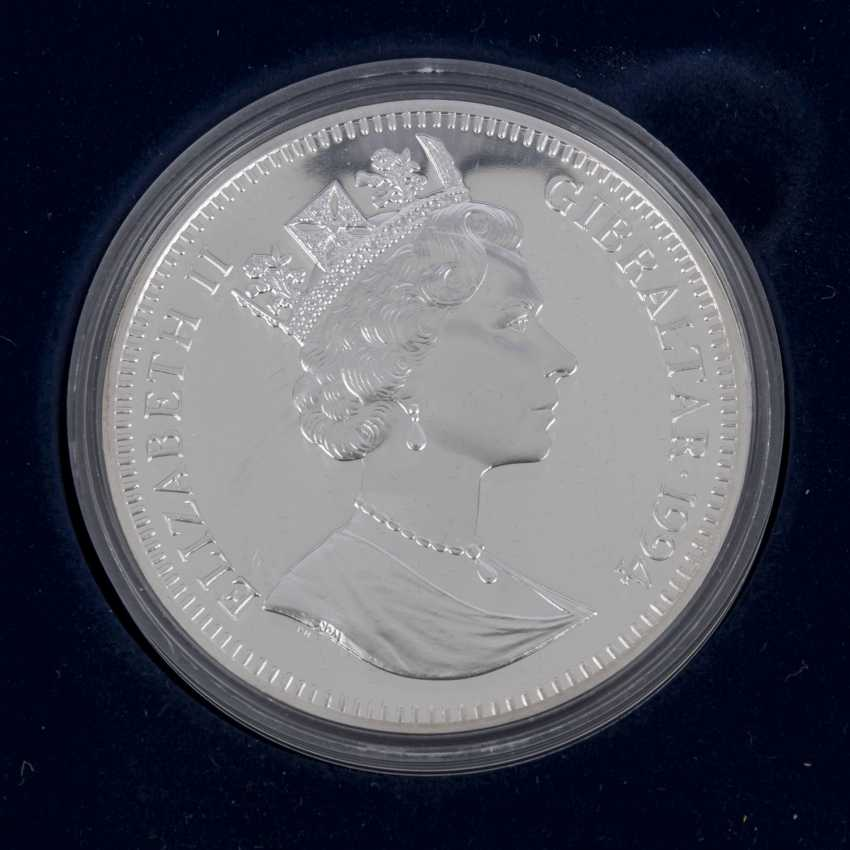 Gibraltar/SILVER - 3 x 70 Ecus in 1994 (2x)/ 1995, UNC. made of PP, - photo 5