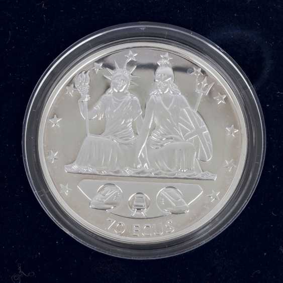 Gibraltar/SILVER - 3 x 70 Ecus in 1994 (2x)/ 1995, UNC. made of PP, - photo 6