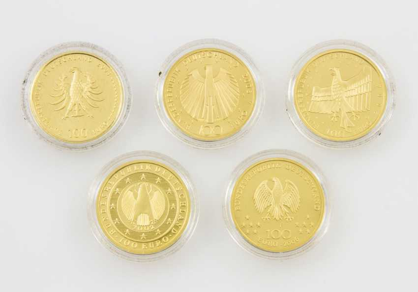 BRD/GOLD - 5 x 100 Euro in Gold, - photo 2