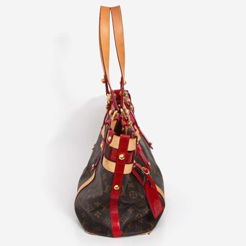 "LOUIS VUITTON elegant shoulder bag ""SALINA GM RUBIS"", collection 2007. - photo 3"