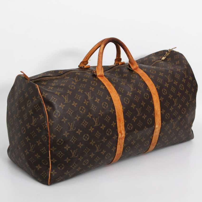 "LOUIS VUITTON classic travel bag ""KEEPALL 60"". Collection of '85. - photo 2"
