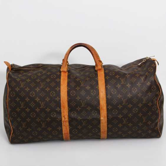 "LOUIS VUITTON classic travel bag ""KEEPALL 60"". Collection of '85. - photo 4"