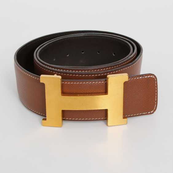 "HERMÉS Wendegürtel ""CONSTANCE"", Kollektion 2012. L: square 90cm, B: 42mm; - photo 1"