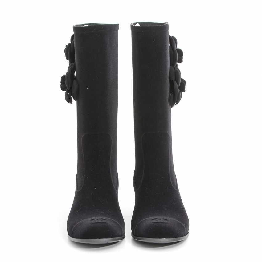 CHANEL elegant rain Boots, Size 40; - photo 1
