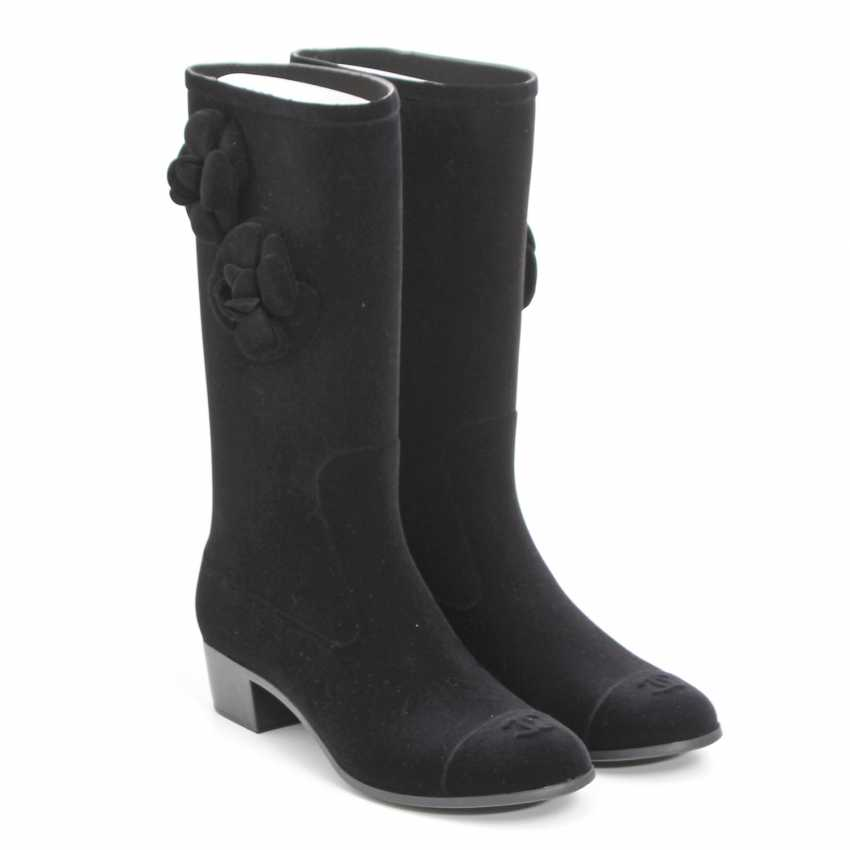 CHANEL elegant rain Boots, Size 40; - photo 2