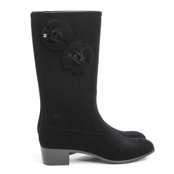 CHANEL elegant rain Boots, Size 40; - photo 3