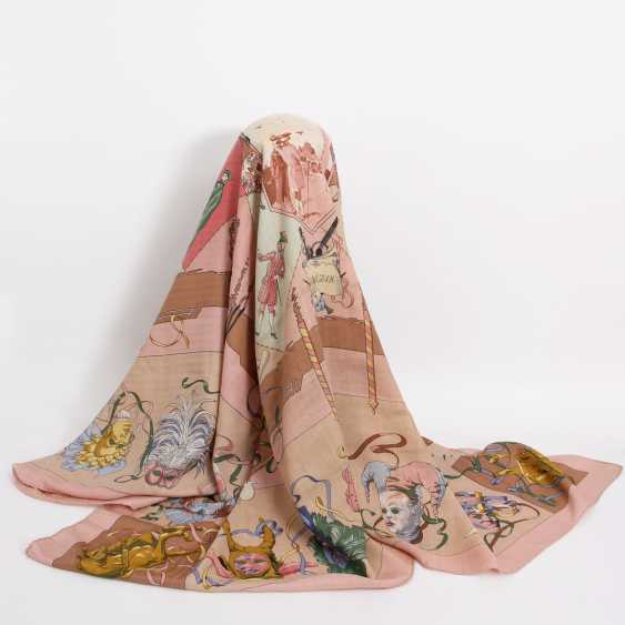 "HERMES elegant gray Scarf ""THE CARNIVAL OF VENICE aka VENEZIA"" - photo 1"