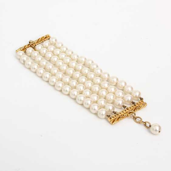 CHANEL exclusive fashion jewelry-pearl bracelet; length: about 18-20cm; - photo 2