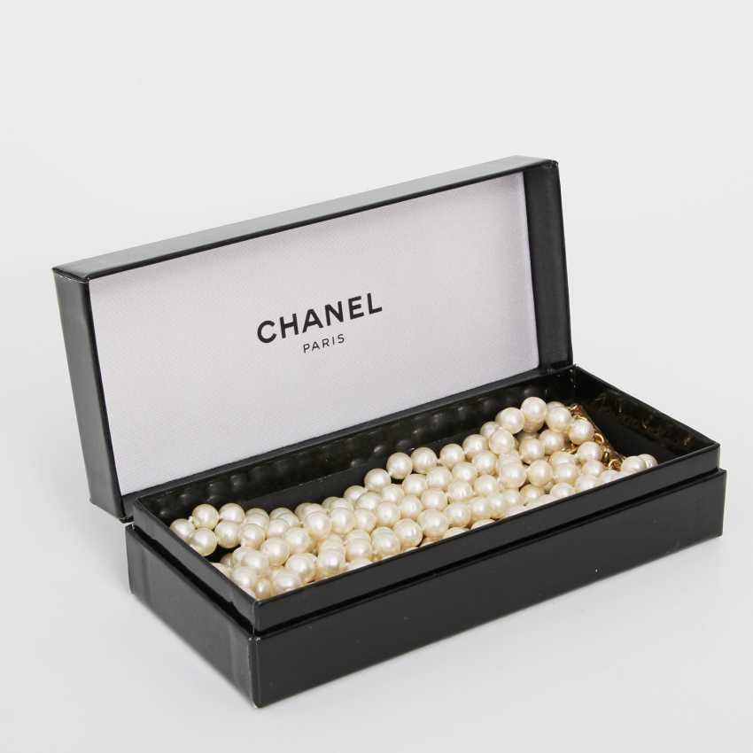 CHANEL exclusive fashion jewelry-pearl necklace, length: 31-35,5 cm; - photo 2