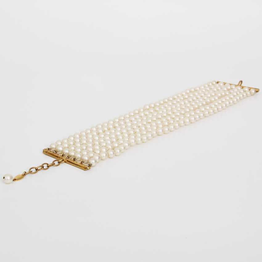 CHANEL exclusive fashion jewelry-pearl necklace, length: 31-35,5 cm; - photo 3