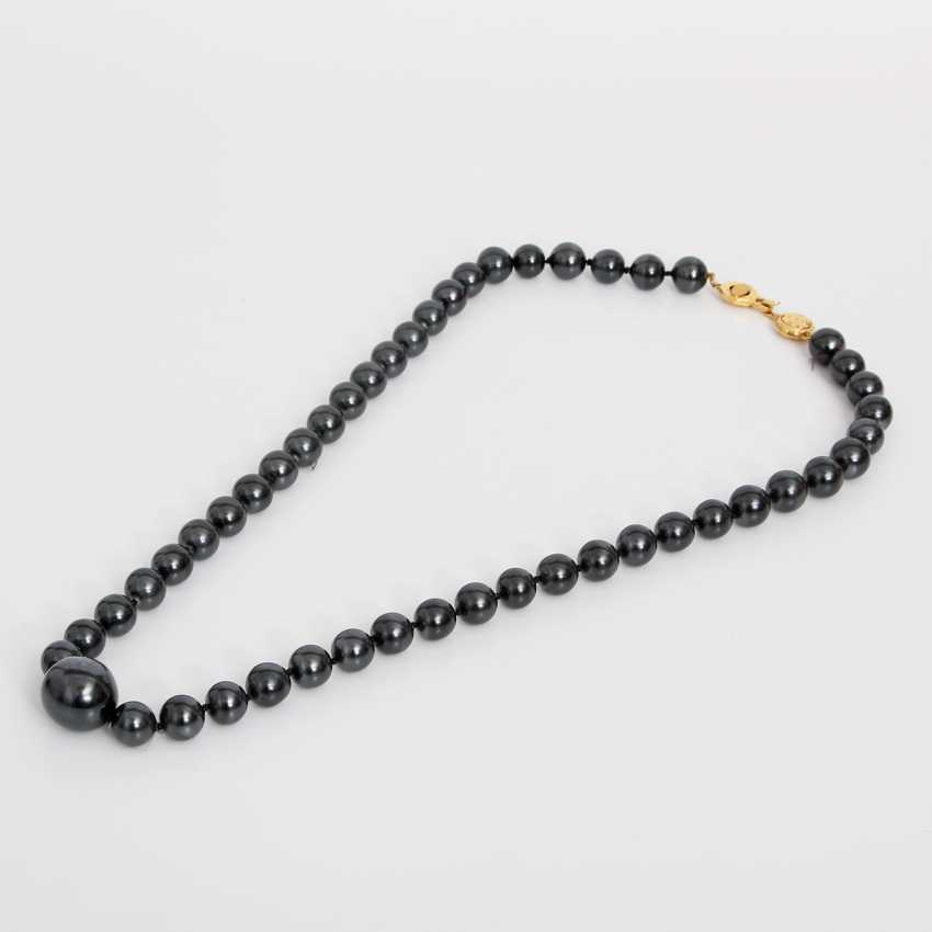 CHANEL luxurious fashion jewelry pearl necklace, length: 86cm; - photo 1