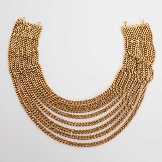 CHANEL VINTAGE highly decorative fashion jewelry necklace L: approx. 40cm; - photo 1