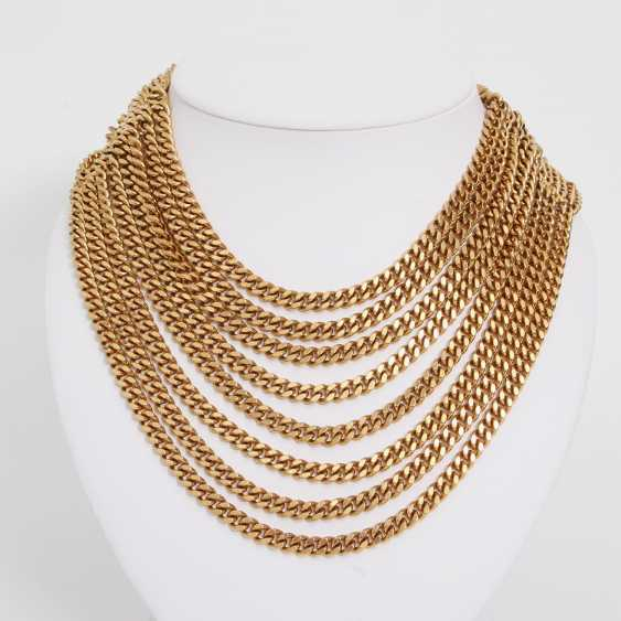 CHANEL VINTAGE highly decorative fashion jewelry necklace L: approx. 40cm; - photo 2