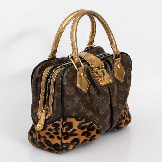 "LOUIS VUITTON, the exquisite handle bag ""ADELE LEOPARD"", the 2006 collection. - photo 2"