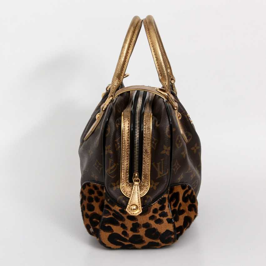 "LOUIS VUITTON, the exquisite handle bag ""ADELE LEOPARD"", the 2006 collection. - photo 3"