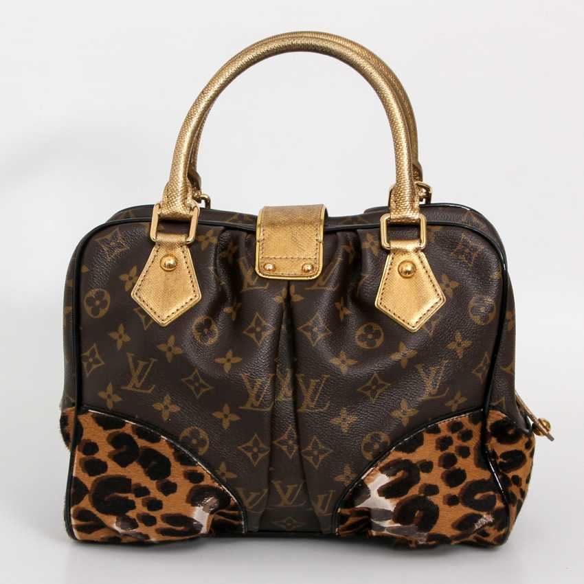 louis vuitton exquisite henkeltasche adele leopard koll 2006 los 76. Black Bedroom Furniture Sets. Home Design Ideas
