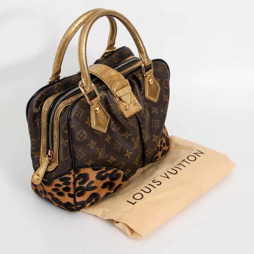 "LOUIS VUITTON, the exquisite handle bag ""ADELE LEOPARD"", the 2006 collection. - photo 5"