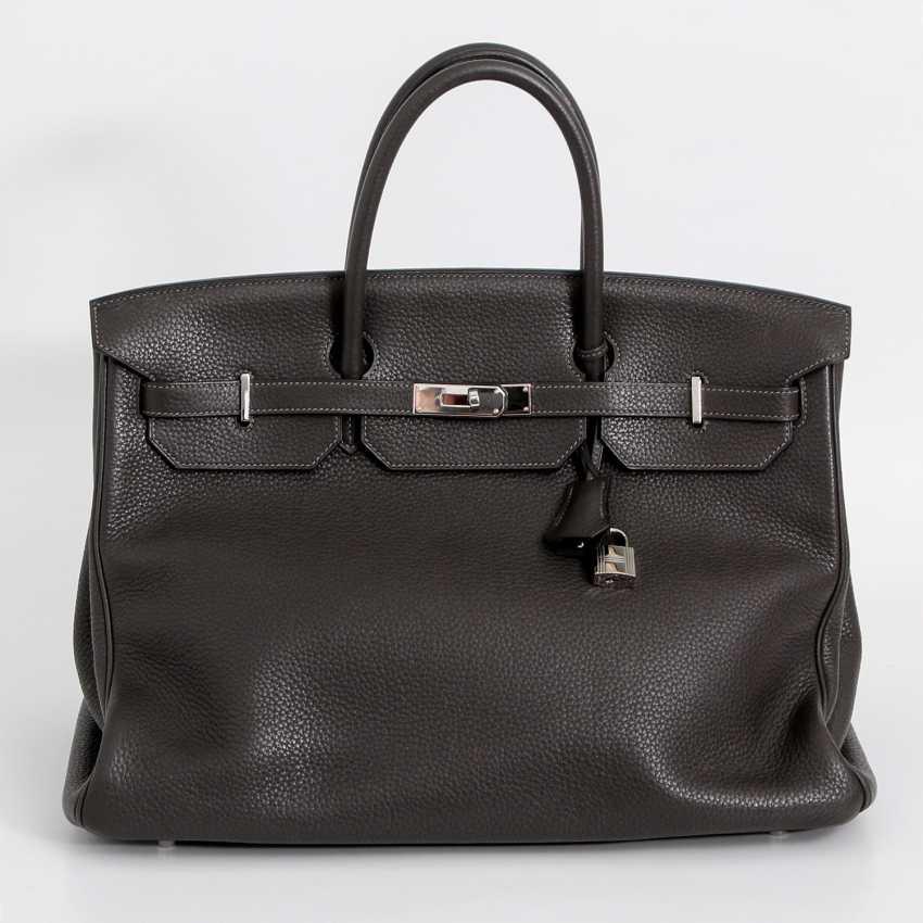 "HERMÈS noble handbag ""BIRKIN BAG 40"", collection 2011. - photo 1"
