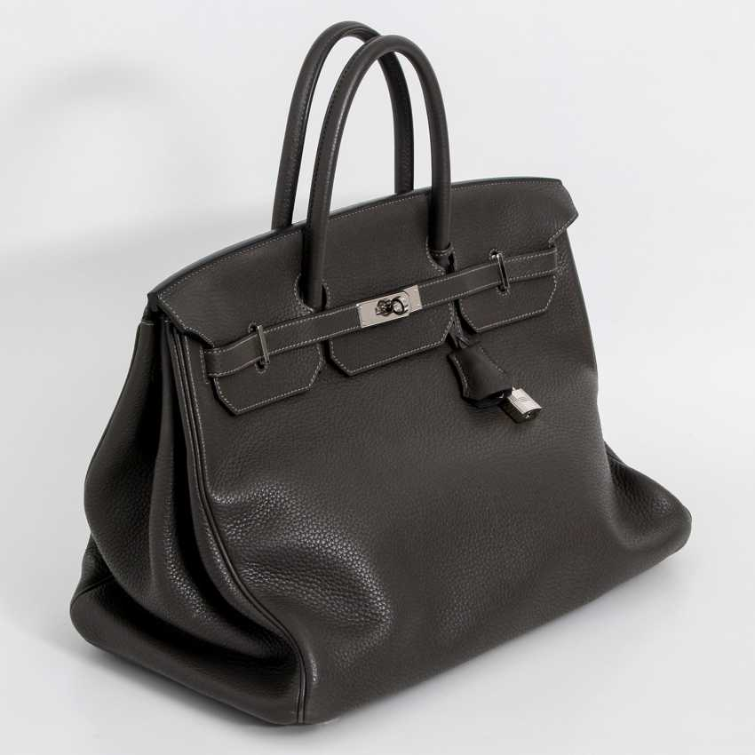 "HERMÈS noble handbag ""BIRKIN BAG 40"", collection 2011. - photo 2"
