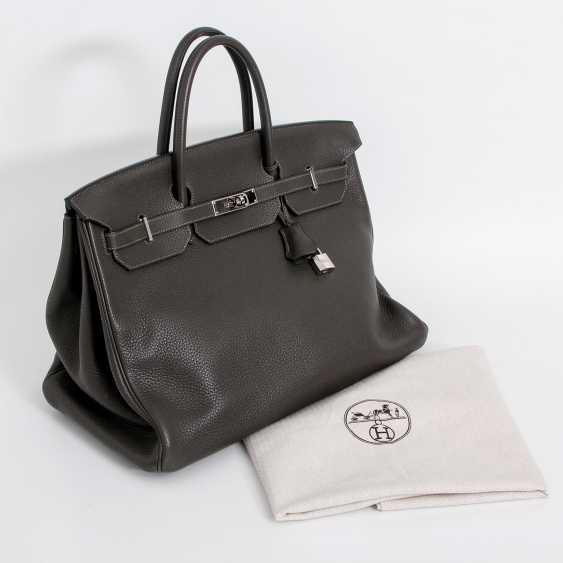 "HERMÈS noble handbag ""BIRKIN BAG 40"", collection 2011. - photo 5"