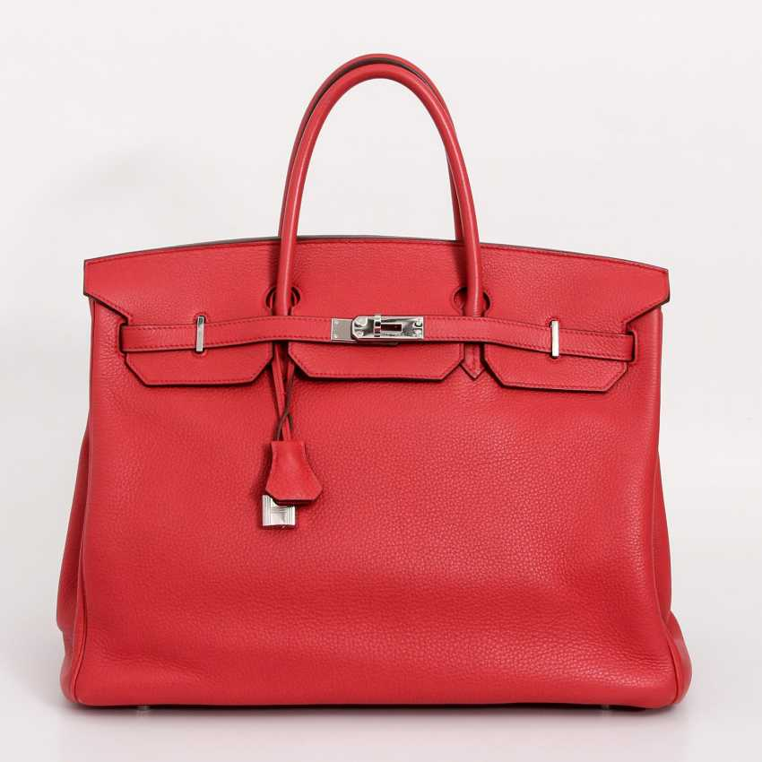 "HERMÈS exquisite handbag ""BIRKIN BAG 40"", collection 2009. - photo 1"