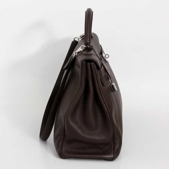 """HERMÈS noble Henkel/shoulder bag """"RETOURNE KELLY BAG 40"""", collection 2007. - photo 3"""