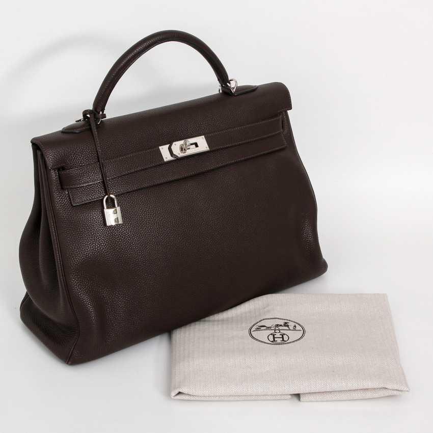 """HERMÈS noble Henkel/shoulder bag """"RETOURNE KELLY BAG 40"""", collection 2007. - photo 5"""