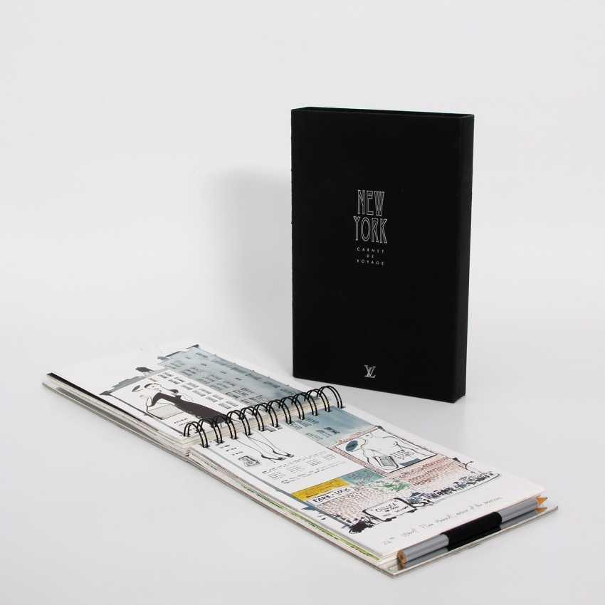 "LOUIS VUITTON elegant gray Ringbuch ""TRAVEL BOOK"". - photo 1"