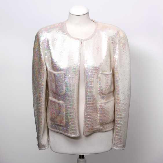 CHANEL BOUTIQUE VINTAGE high fine sequin jacket, size 38. - photo 1