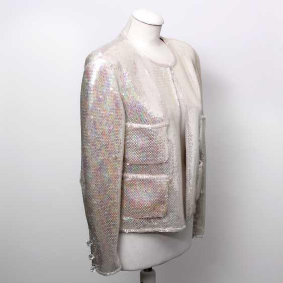 CHANEL BOUTIQUE VINTAGE high fine sequin jacket, size 38. - photo 2