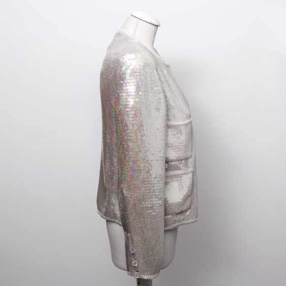 CHANEL BOUTIQUE VINTAGE high fine sequin jacket, size 38. - photo 3