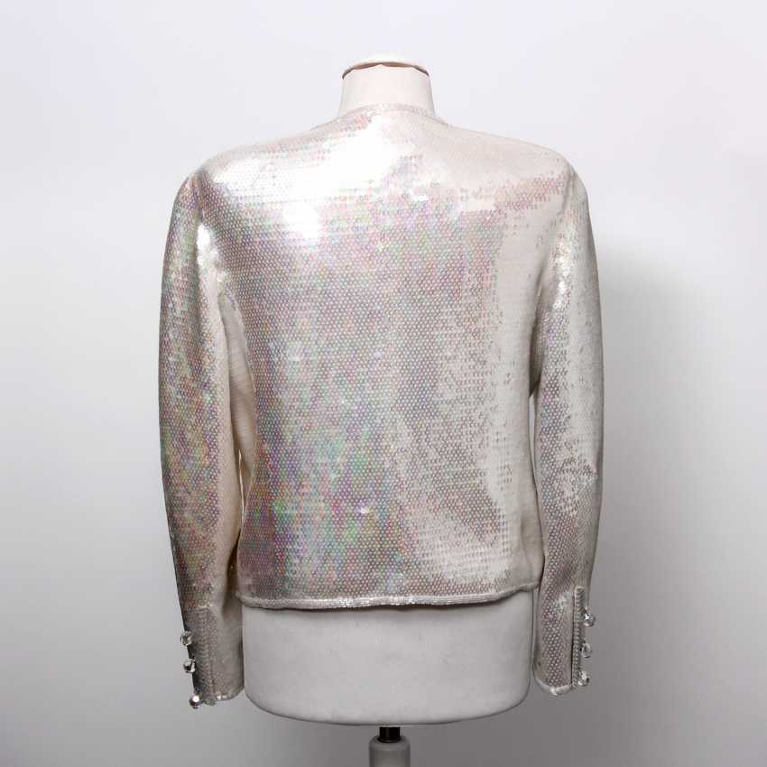 CHANEL BOUTIQUE VINTAGE high fine sequin jacket, size 38. - photo 4