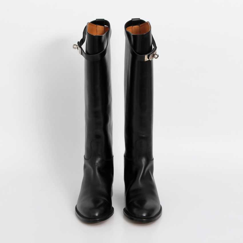 """HERMÈS timeless high boots are """"JUMPING"""", size 38. - photo 2"""