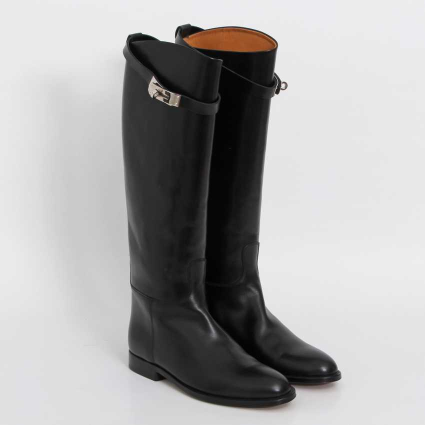 """HERMÈS timeless high boots are """"JUMPING"""", size 38. - photo 3"""